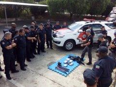 Guardas municipais passam por treino e poderão usar armas em Pinda